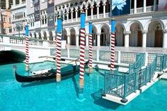 在拉斯韦加斯大道的威尼斯式赌场酒店手段 免版税库存照片