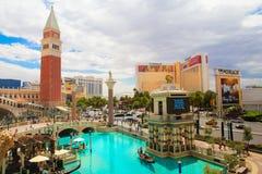 在拉斯韦加斯大道的威尼斯式赌场酒店手段 免版税库存图片