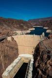 在拉斯维加斯,内华达附近的著名胡佛水坝 库存图片