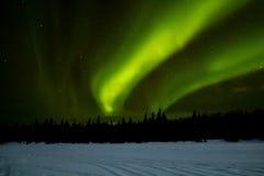 在拉普兰的北极光 免版税图库摄影