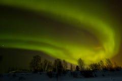 在拉普兰的北极光 库存图片