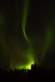 在拉普兰的北极光 库存照片