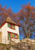 在拉珀斯维尔城堡的看法在瑞士 免版税库存图片