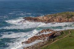 在拉科鲁尼亚队西班牙的海岸线 免版税图库摄影