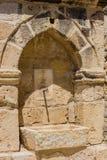 在拉纳卡堡垒的中世纪龙头 库存照片