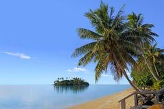 在拉罗通加库克群岛使Muri盐水湖环境美化看法  库存照片