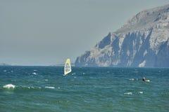 在拉雷多风帆冲浪 免版税库存照片