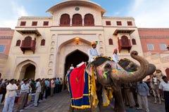 在拉贾斯坦印度的Gangaur节日 免版税图库摄影