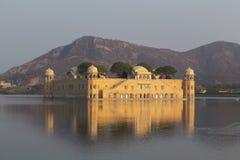在拉贾斯坦国家的Jal玛哈尔的印度 图库摄影