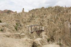 在拉巴斯,玻利维亚附近的月亮谷 免版税库存图片