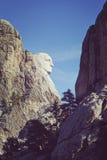 在拉什莫尔山Nati上色乔治・华盛顿口气侧视图  库存照片