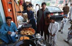 在拍打谷,巴基斯坦的生活 库存图片