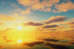 在拒绝有效海洋日落黄色之上 库存图片