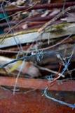 在拖车的铁丝网 免版税库存照片