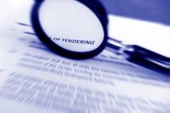 在招标的研究合同 免版税图库摄影