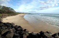 在拜伦海湾的主要海滩 图库摄影