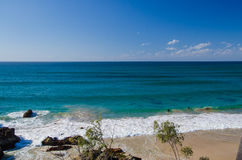 在拜伦海湾,澳大利亚的海滩 免版税库存照片