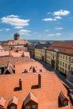 在拜罗伊特德国巴伐利亚的老镇的顶视图 免版税图库摄影