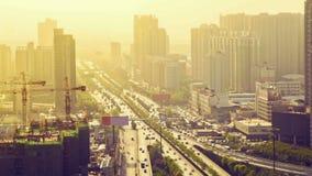 在拥挤的街,西安,陕西,中国上的Timelapse交通 影视素材