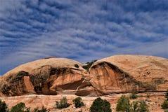 在拱门国家公园犹他的岩层 图库摄影
