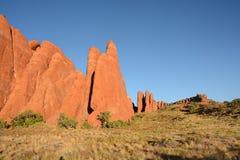 在拱门国家公园的红色岩石飞翅 图库摄影