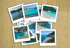 在拼贴画的意大利海照片 免版税图库摄影