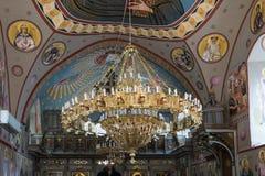 在拿撒勒东正教Metropolite的大装饰枝形吊灯在老城拿撒勒在以色列 免版税库存照片