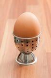 在持有人的煮沸的鸡蛋 免版税库存图片