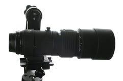 在挂接的300mm透镜 库存图片
