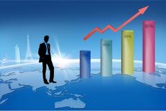 在指向箭头企业买卖人概念巨型的增长附近 库存图片