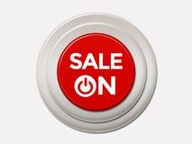 在按钮的销售 免版税库存照片