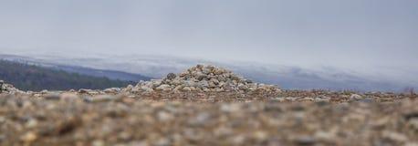 在挪威中间的美丽的沙丘 北沙漠在中央斯堪的那维亚在秋天 库存图片