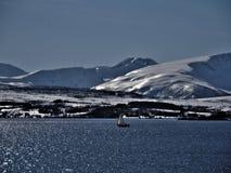在挪威北部 图库摄影