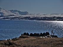 在挪威北部 库存照片