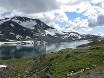 在挪威山 免版税库存照片