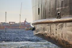 在挪威海岸斯塔万格附近运输细节航行 免版税图库摄影