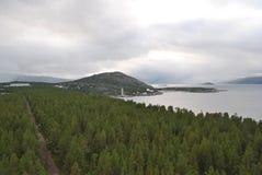 在挪威的海湾里面 免版税图库摄影