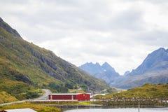 在挪威` s Lofoten的看法 免版税图库摄影