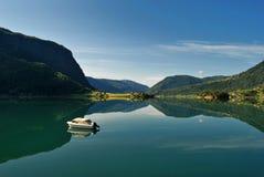 在挪威sognefjord附近的balestrand 库存照片