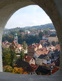 在捷克克鲁姆洛夫的窗口 免版税库存照片