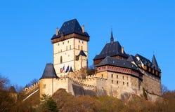 在捷克共和国的城堡Karlstejn 库存照片