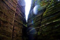 在捷克共和国的岩石 图库摄影