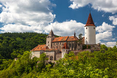 在捷克共和国的Krivoklat城堡 库存图片
