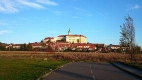 在捷克共和国Castle.Photo采取的Mikulov 库存照片