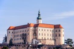 在捷克共和国Castle.Photo采取的Mikulov 免版税库存照片