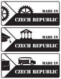 在捷克邮票制造的套 库存例证