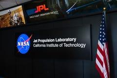 在探索JPL `的`家庭招待会`年会` A票的JPL参观 免版税库存照片