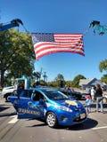 在接触的家庭卡车事件,美国国旗,拉塞福, NJ,美国 图库摄影
