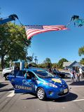 在接触的美国国旗卡车事件,拉塞福, NJ,美国 库存图片