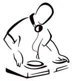 在控制台后的DJ 免版税库存图片